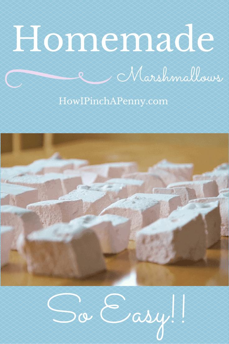 Homemade Marshmallows from Howipinchapenny.com