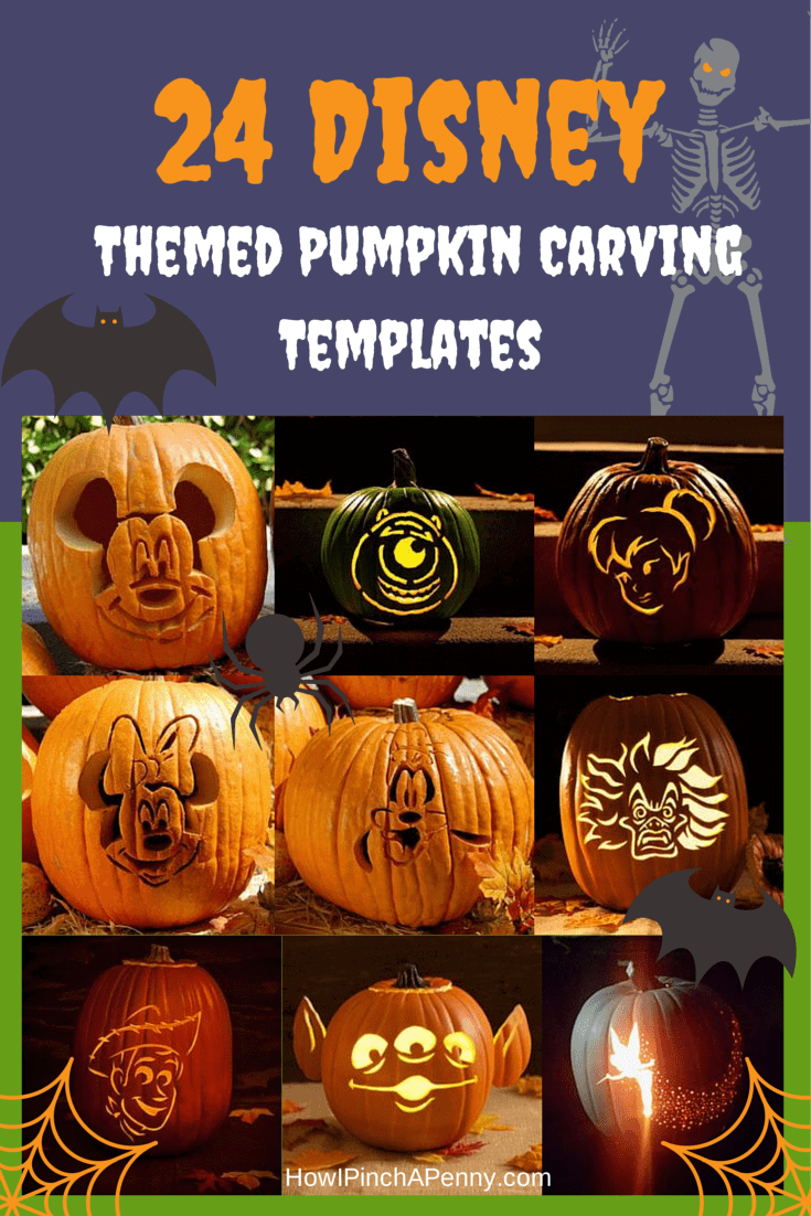 24 Disney Themed Halloween Pumpkin Carving Templates | How I Pinch a Penny