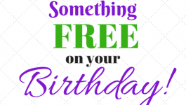 Something FREE on your bithday