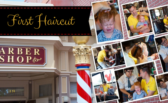 First Haircut at Harmony Barbershop in Disney World