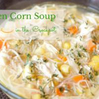 Crockpot Chicken Corn Soup from Howipinchapenny.com #pinoftheday