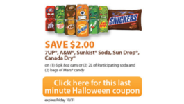 Save $2 When You Buy Dr. Pepper and Mars Candy (exp. 10/31) #shop #ScarySavings