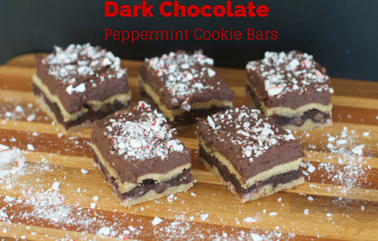 Dark Chocolate Peppermint Cookie Bars. Great For Your Holiday Entertaining